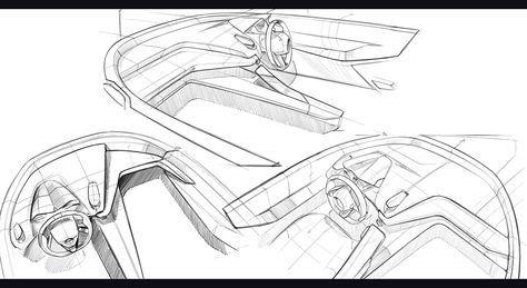 Jaguar 2 Seater Design Studiesdivided Interior Driver Oriented