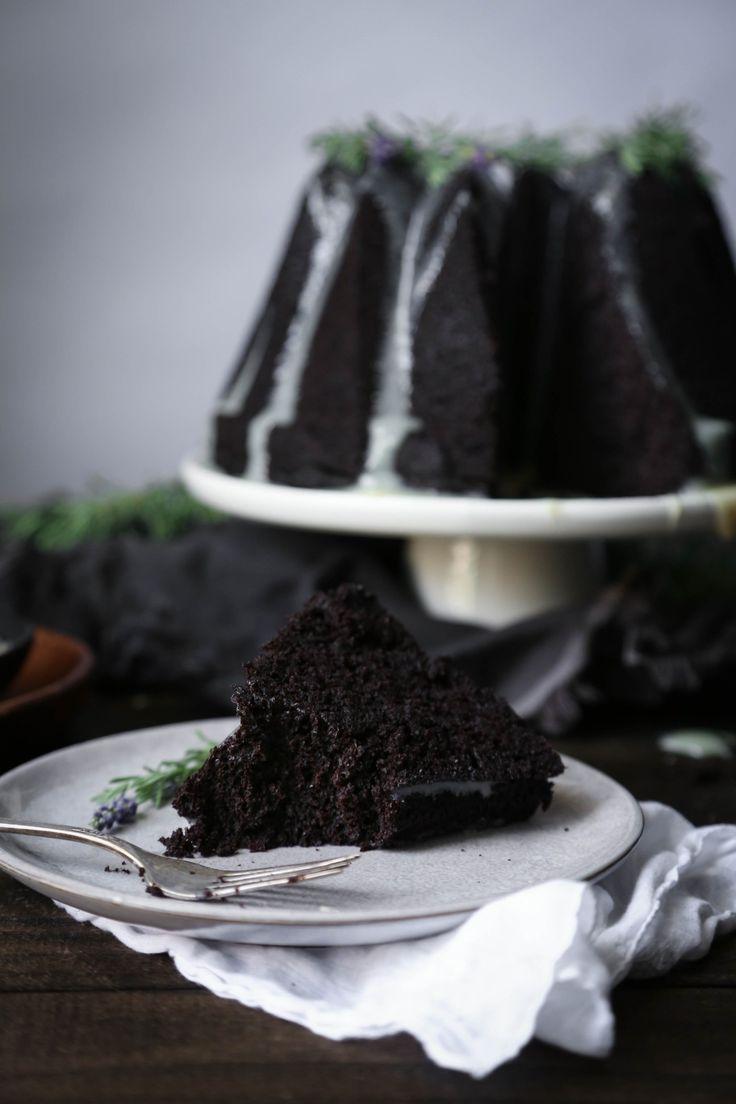 chocolate earl grey cake with lavender ganache lavender ganache cake ...