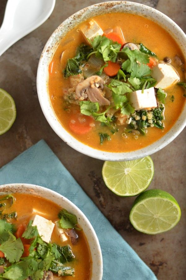 Thai Red Curry Quinoa Soup
