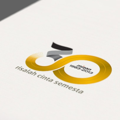 Logo design for 30th anniversary of Mizan
