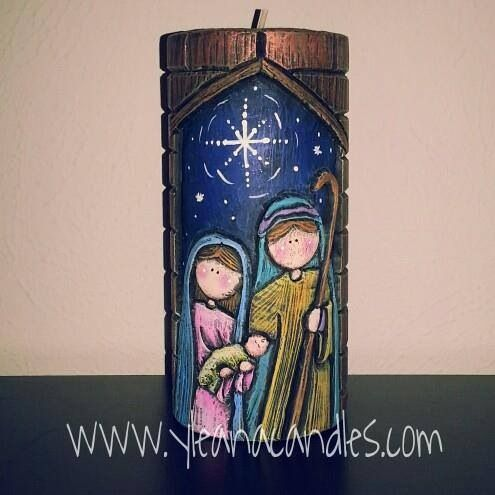 Velas talladas a mano de navidad imagui - Velas talladas ...