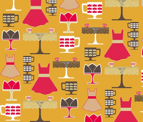 AfternoonCoffee fabric by mrshervi on Spoonflower custom