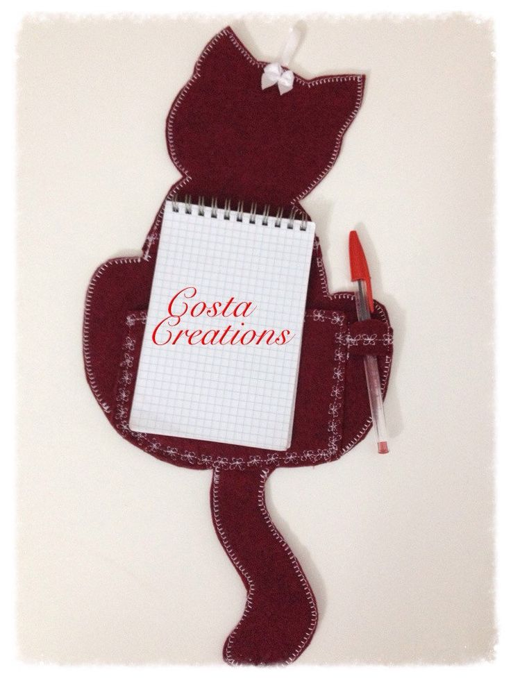 Gatto porta note di CostaCreation su Etsy