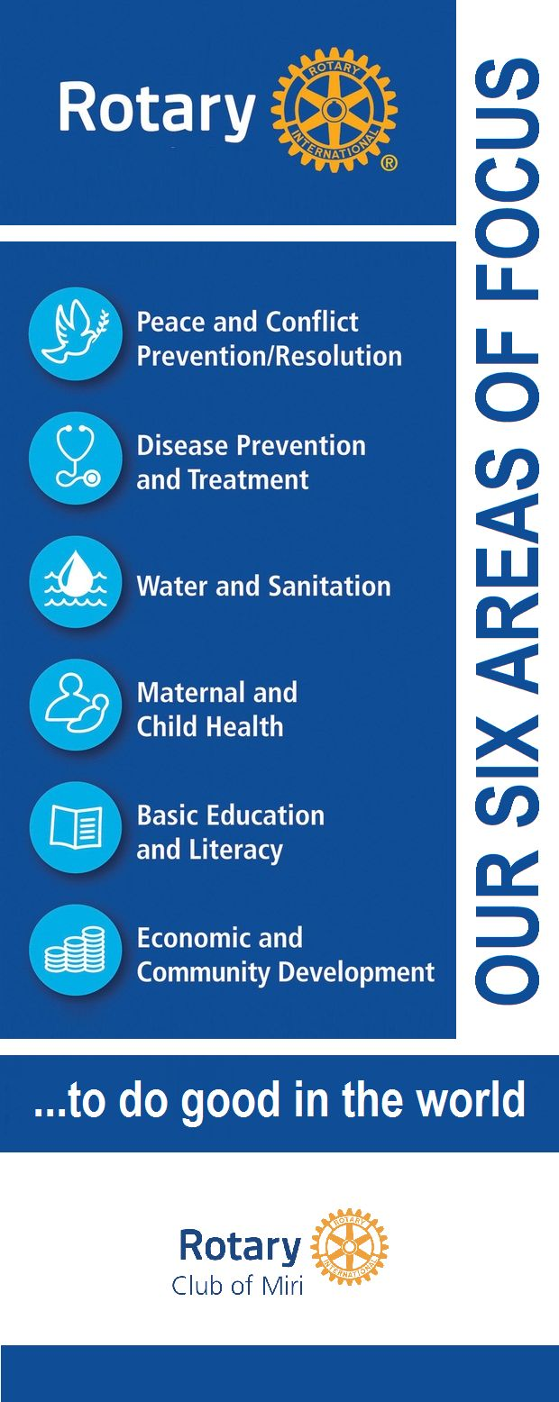 Rotary Club of Miri - Rotary's Six Areas of Focus by GT