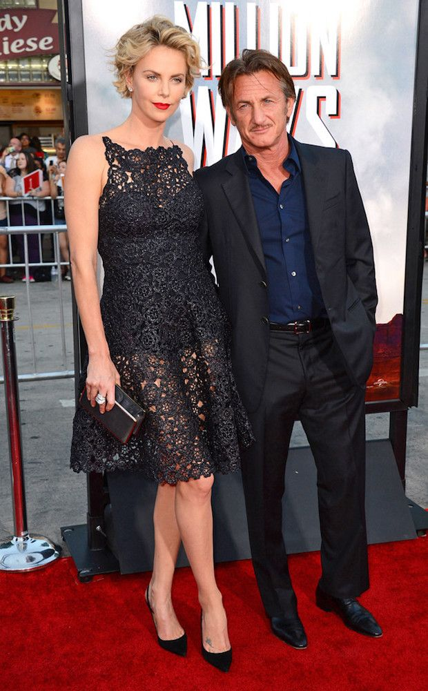 Charlize Theron and Sean Penn height difference