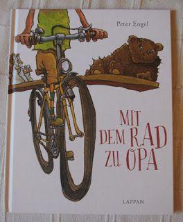 3 von 5 Sterne Peter Engel: Mit dem Rad zu Opa Lappan Verlag, Oldenburg 2014 ISBN: 978-3830312208 Ausstattung: 32 Seiten, Hardcover Preis: 12,95 € Vom Verlag empfohlenes Lesealter: ab 3 Jahre