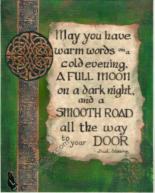 ", ""Irish Blessing"" - 2012 ""And now for something completely different…"" I used to do calligraphy ages ago, but I haven't in a while. This is for an Irish-themed show at the Social Art Gallery in Albany, NY ..Follow for all things Pagan. Witchcraft. Nature. Fantasy and more.."
