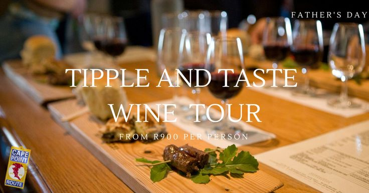 Tipple and Taste Wine Tour: Take your Dad on this unique Beer & Wine Food Pairing Experience of renowned Wine Estates in the Devon Valley, Stellenbosch.  He'll love the craft beer to start and the boeretapas and wine pairing.  You'll enjoy meandering through scenic farmlands and vineyards leading you to some of the finest wine and culinary experiences the Winelands has to offer.