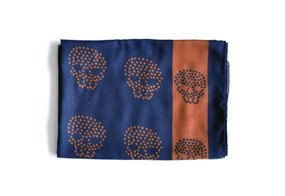 Skull Scarf Men's Scarf Women's Scarf Unisex Scarf  by MunaFabriC $11.00 - Shipping Worldwide! [Click Photo for Details]