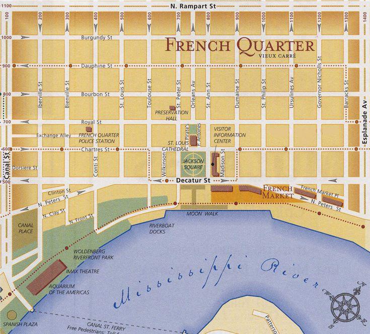 map of french quarter | Próxima viagem: French Quarter – Onde comer e passear no centro de ...