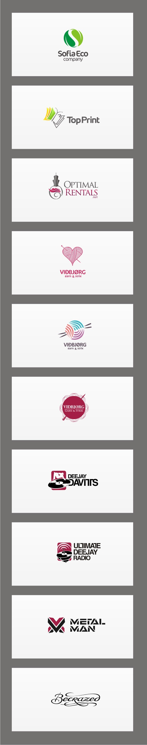 Logos v.2 by Ivan Manolov, via Behance