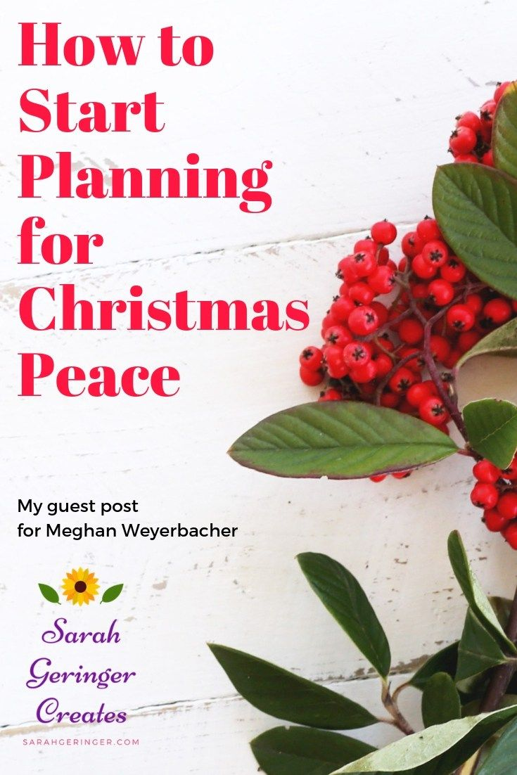 How to Start Planning for Christmas Peace | Faith | Pinterest ...