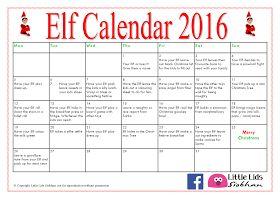 Little Lids Siobhan: Elf Calendar 2016