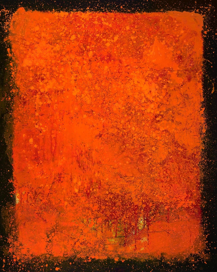 3185 | Pursuit of Persimmon | 60 x 48 inches | Oil on Canvas  | www.SamRoloff.com  SOLD