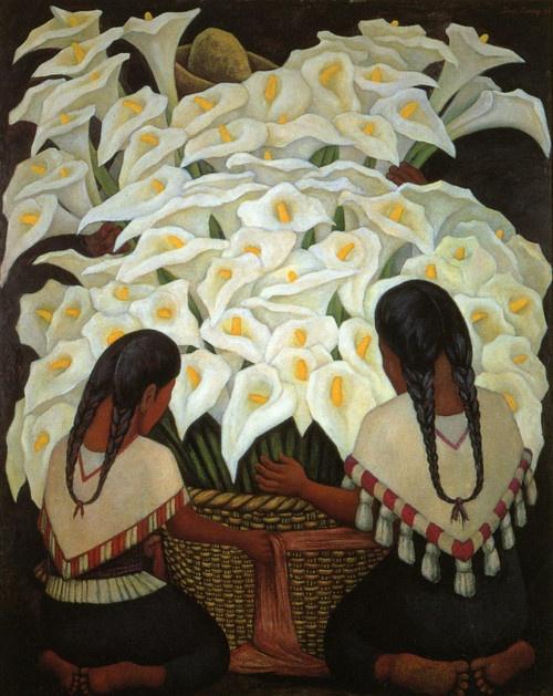 Diego Rivera, Vendeuses de fleurs (1943)