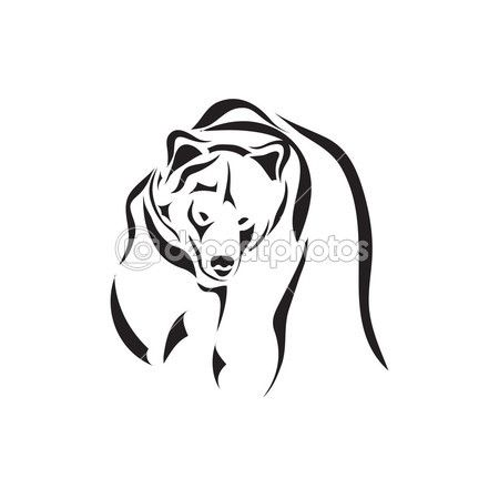 vektorové umělecké tetování skica zvíře