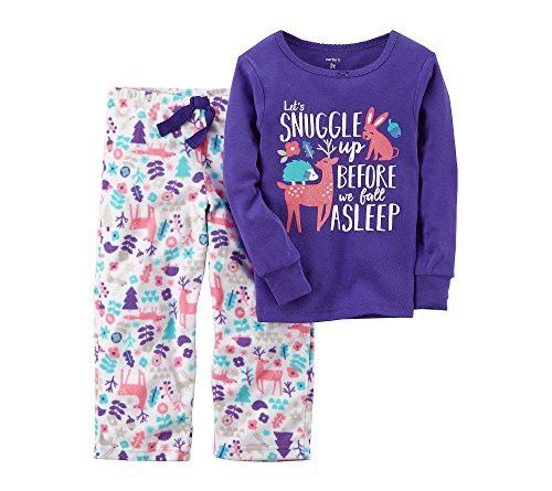 Carter's Baby Girls' 2 Piece Snuggle Fleece Pajamas 18 Months