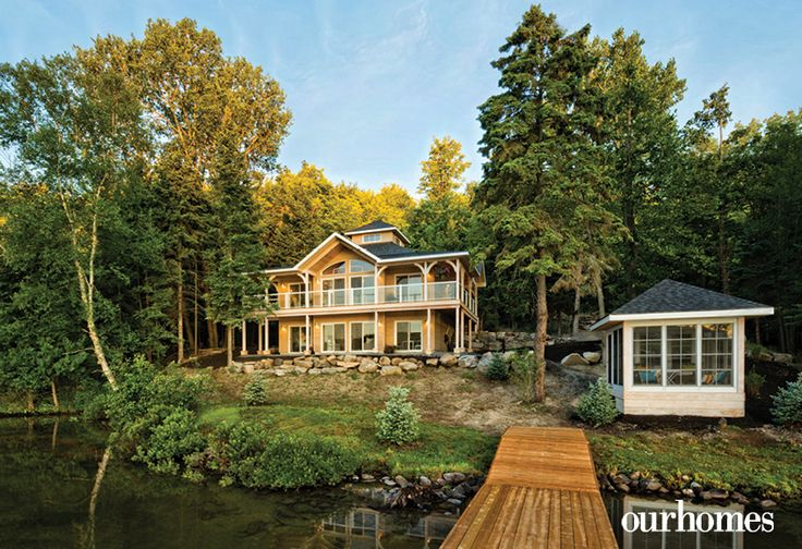 The gazebo near the dock is a favourite spot at the cottage. http://www.ourhomes.ca/articles/build/article/lake-peninsula-prize
