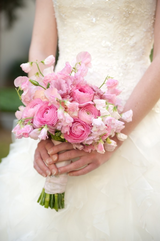Lisa - this is the shade of pink I am referring to for the sweet peas and ranunculus.  I would also like to add Lily of the Valley as I like how dainty they are.