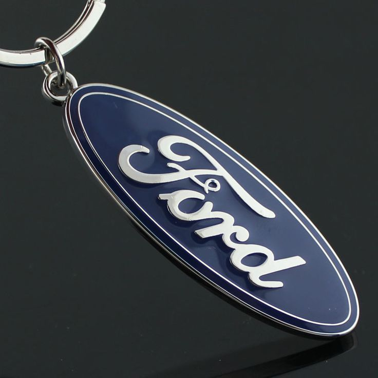 Metal Key Chain with Car Logo Made by Zinc Alloy Keychain For Emblems of  FORD with Car Styling Ring