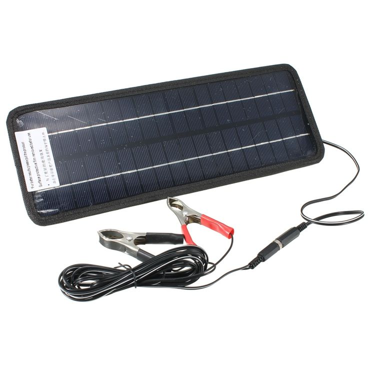 Hot 12V 4.5W Solar Panel Portable Monocrystalline Solar Charger Module System For Car Automobile Boat Rechargeable Power Battery //Price: $35.12      #followme