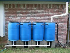 homemade Rain-Barrels - check your state, in some it is illegal to catch rain water!