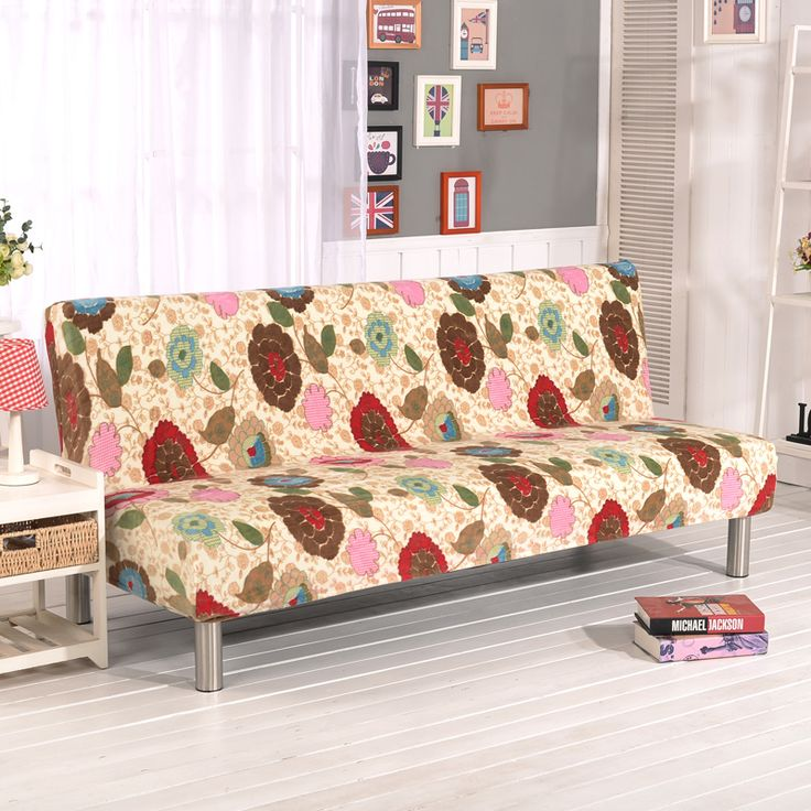 Stretch Sofa Cover Elastic Couch Cover Armless Furniture Covers Cheap Sofa Bed Covers For Livingroom Sunflower V20 #Affiliate