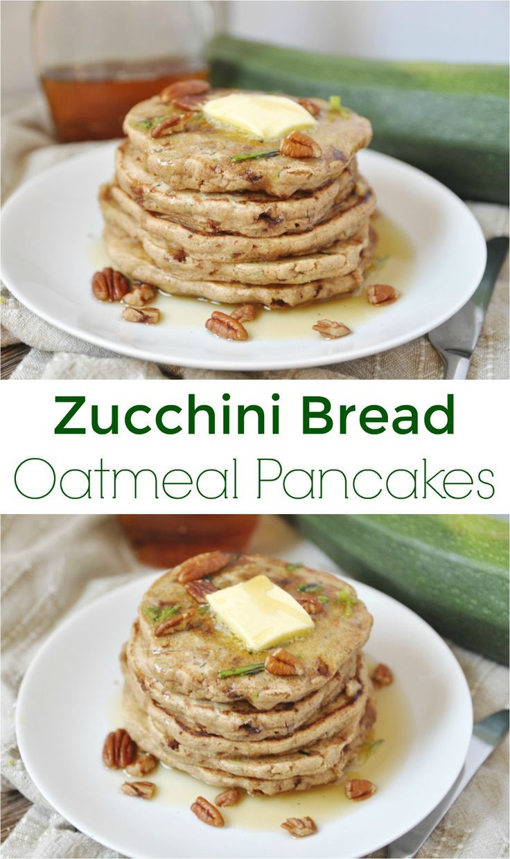 Zucchini Bread Oatmeal Pancakes