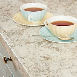 White granite worktops have smooth 3mm edge profile meaning they can be immediately installed with little modification.