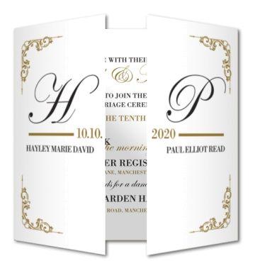 folded card 15 x 14 cm