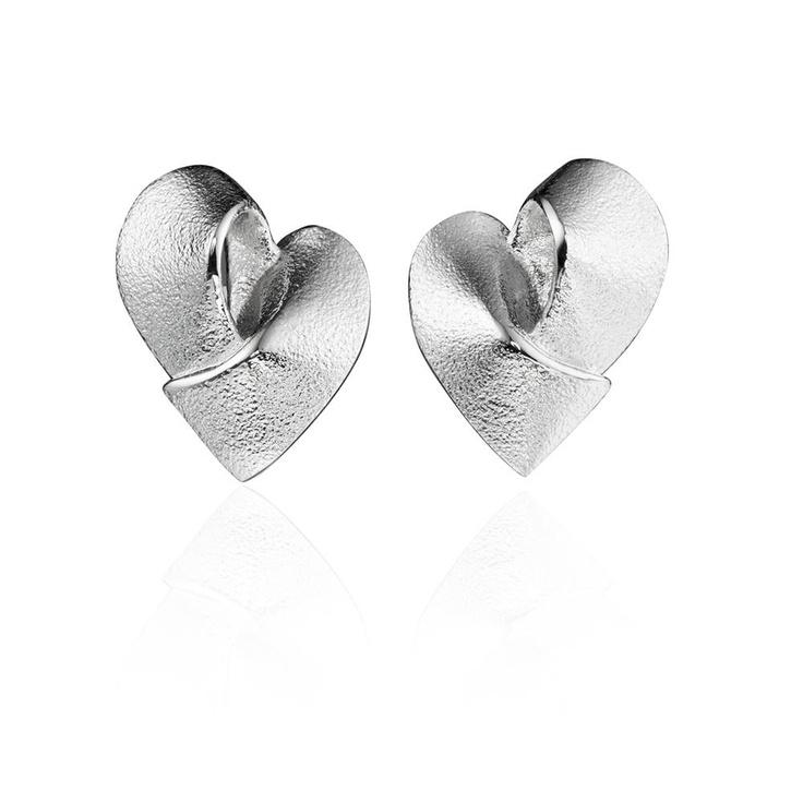 HEARTS  Design Pekka Hirvonen / Silver Earrings / Lapponia Jewelry / Handmade in Helsinki
