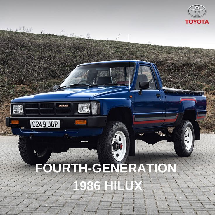 Toyota Fourth Generation Hilux In 2020 Toyota Pickup 4x4 Toyota Commercial Vehicle