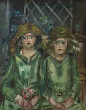FRANCES HODGKINS Bridesmaids (1930) Oil on canvas. From article The Haunting: Frances Hodgkins and Jenny Wimperis by Joanne Drayton in Art New Zealand: NUMBER 110 / AUTUMN 2004.