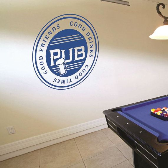 Pub Wall Decal - Bar Decal - Good Friends Wall Decal - Wall Quotes - Wall Decor - Vinyl Lettering -Bar Wall Decal - Man Cave - Garage - Beer