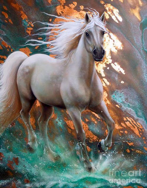caballo-blanco-pintura-al-oleo: