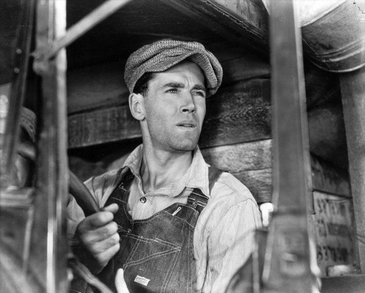 """Tom Joad (Henry Fonda) e a súa mirada ferida. Maxistral interpretación en """"Las uvas de la ira"""" (The Grapes of Wrath, 1940), a adaptación que John Ford fixo da novela de John Steinbeck. Imprescindible."""