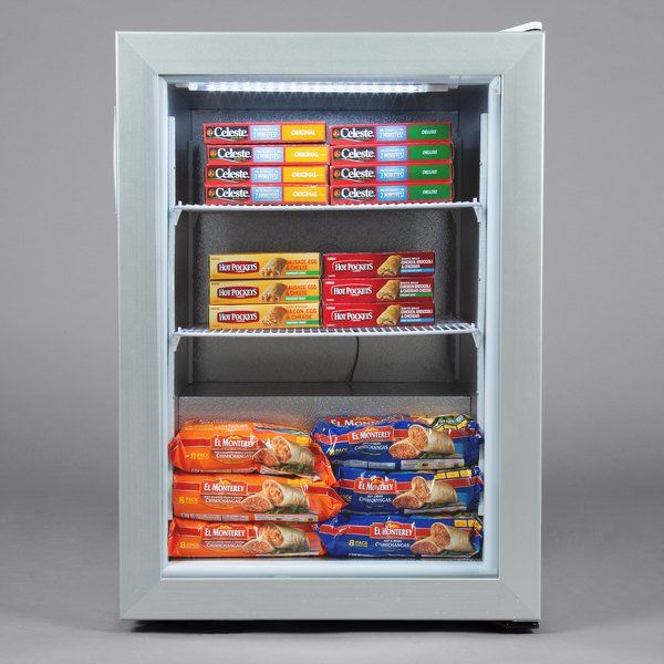 Avantco Cfm3 White Countertop Display Freezer With In 2020 White
