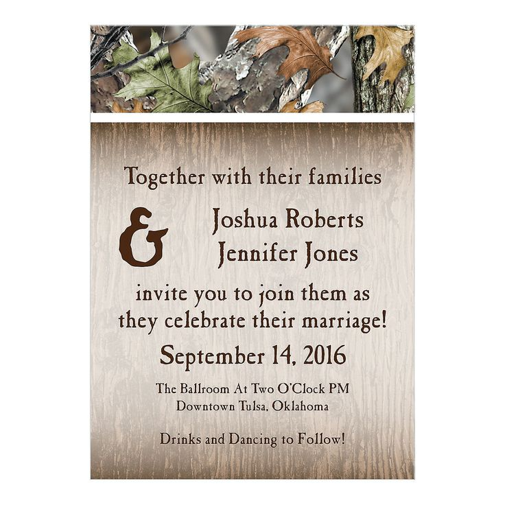 Best 25+ Camo wedding invitations ideas on Pinterest | Redneck ...
