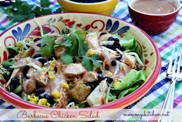 Mommy 39 s kitchen barbecue chicken salad easy summer meal for Easy salad ideas for bbq