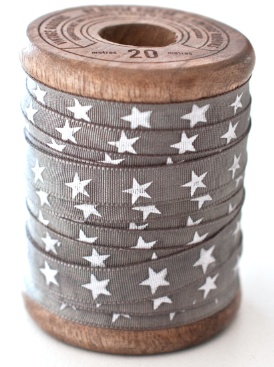 star ribbon on wooden spool