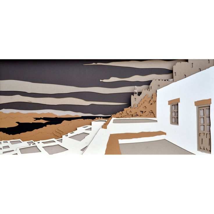 A sublime glance to the monastery and the rest of the surroundings. Cut-outs. Dimensions 92 x 42 cm