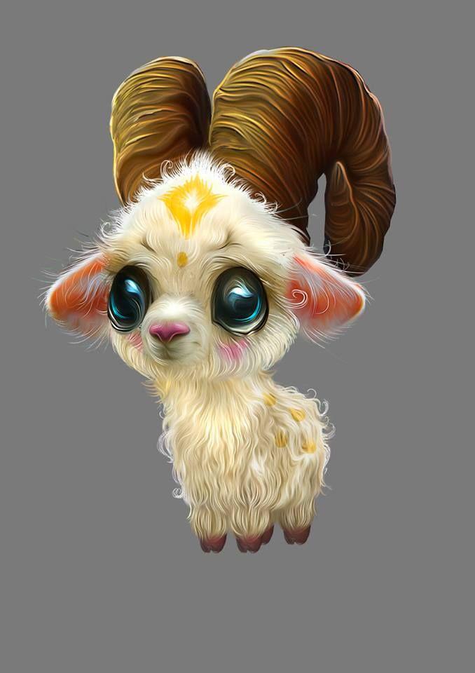 Fantasy Creature Dolls by Nefantano – Goat #cute #animal #illustration