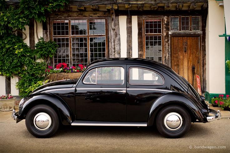 Black Volkswagen Old Beetle