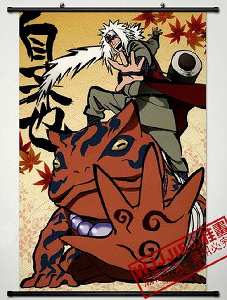 Home decor naruto jiraiya cosplay wall scroll poster 354