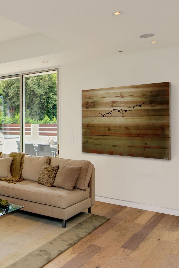 Sun Flight Natural Pine Wood Wall Art