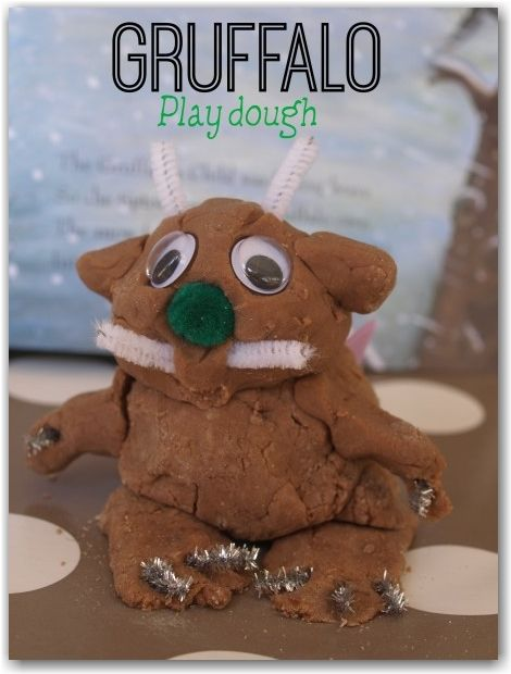 Gruffalo play dough - such a fun way to bring the book to life.