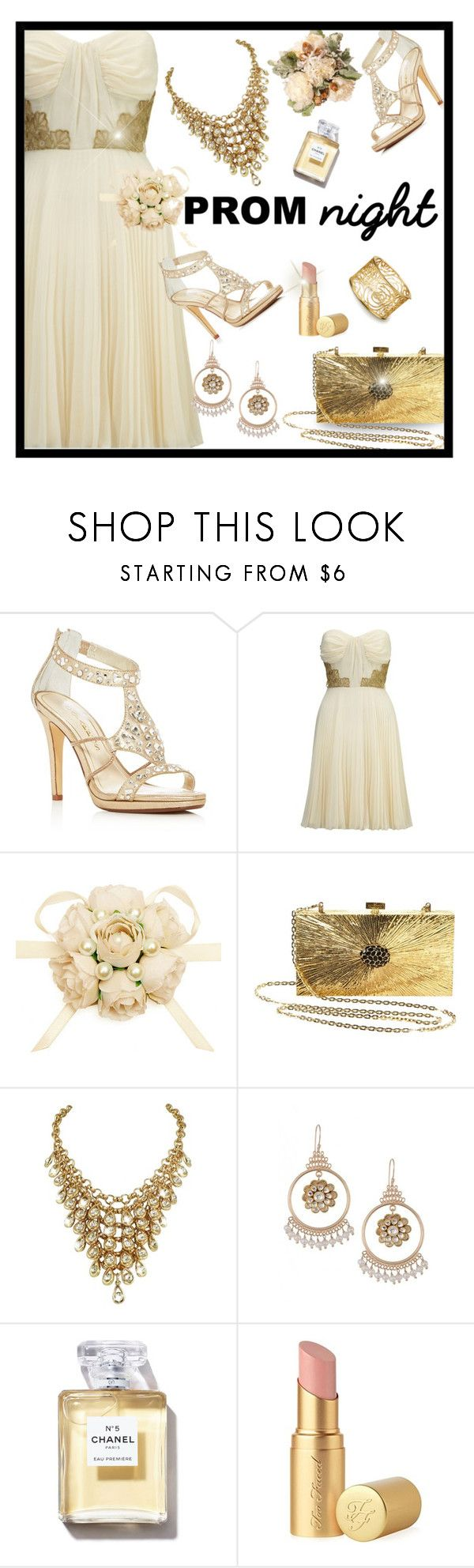 """""""Perfect Prom Night-Aphrodite"""" by majezy ❤ liked on Polyvore featuring Caparros, Lipsy, Valentino and Too Faced Cosmetics"""