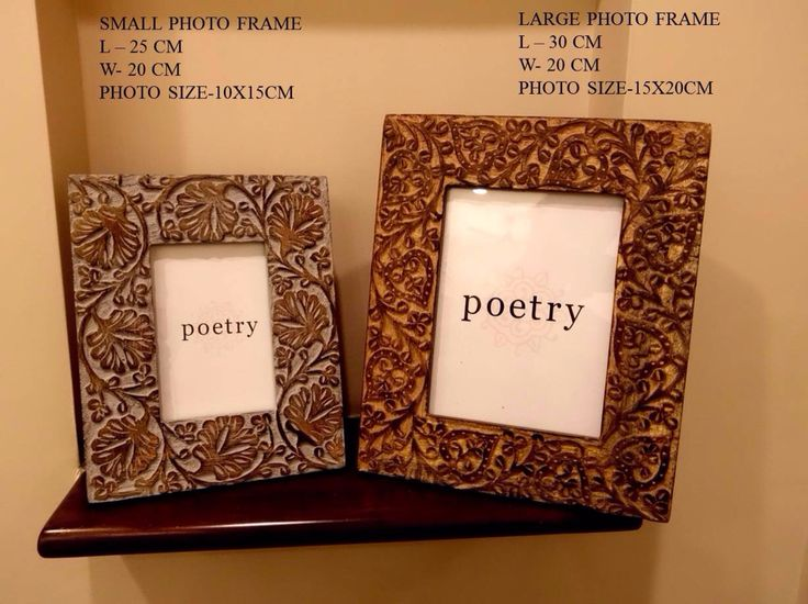 Photo frames wooden