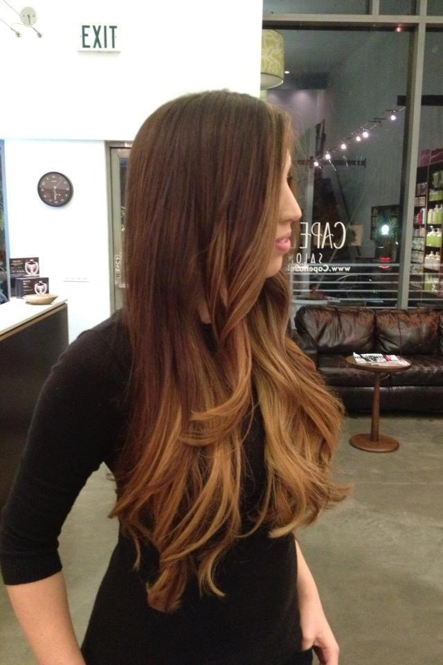 Ombre hair, long layers