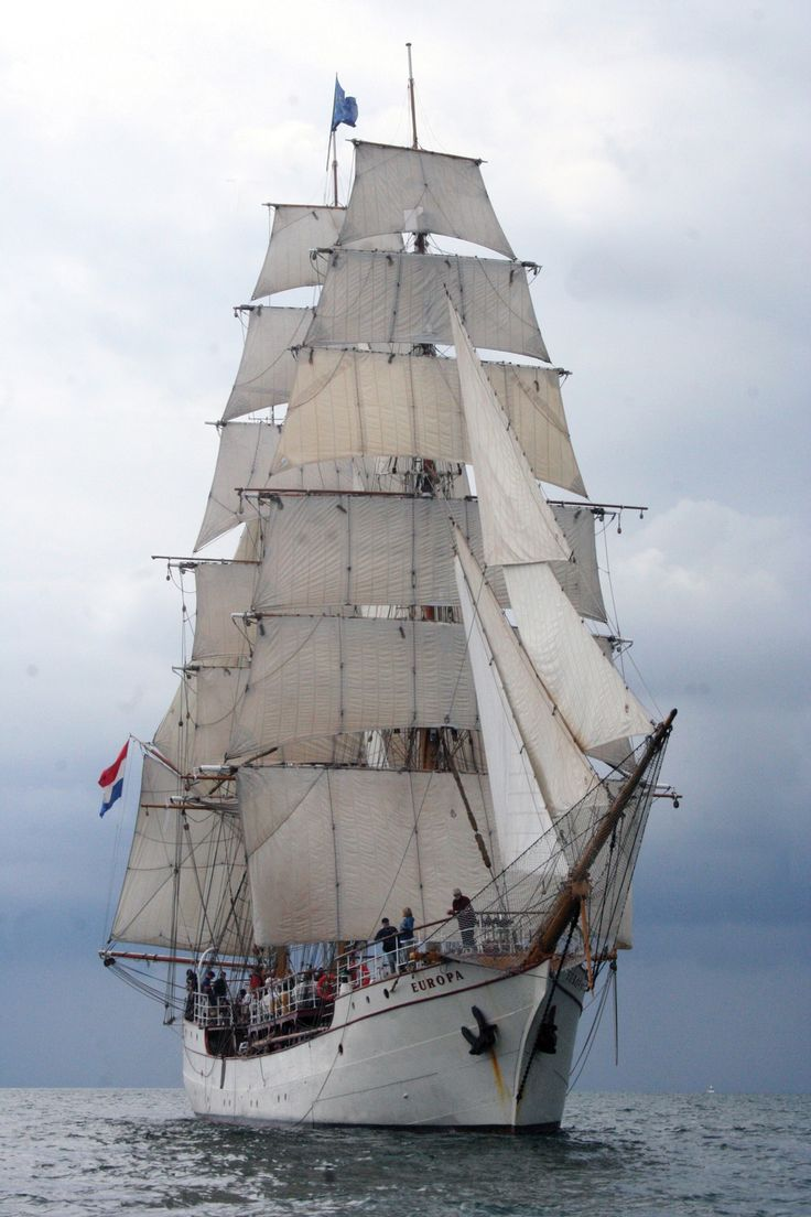 """One of the more magnificent tall ships, the 185' Europa hails from Amsterdam, The Netherlands, and is one of the world's most famous sailing vessels. Built to sail around the globe, Europa has a crew of 10 - 12 professional seafarers and 50 """"guest"""" crew members. This is her second voyage into the Great Lakes."""